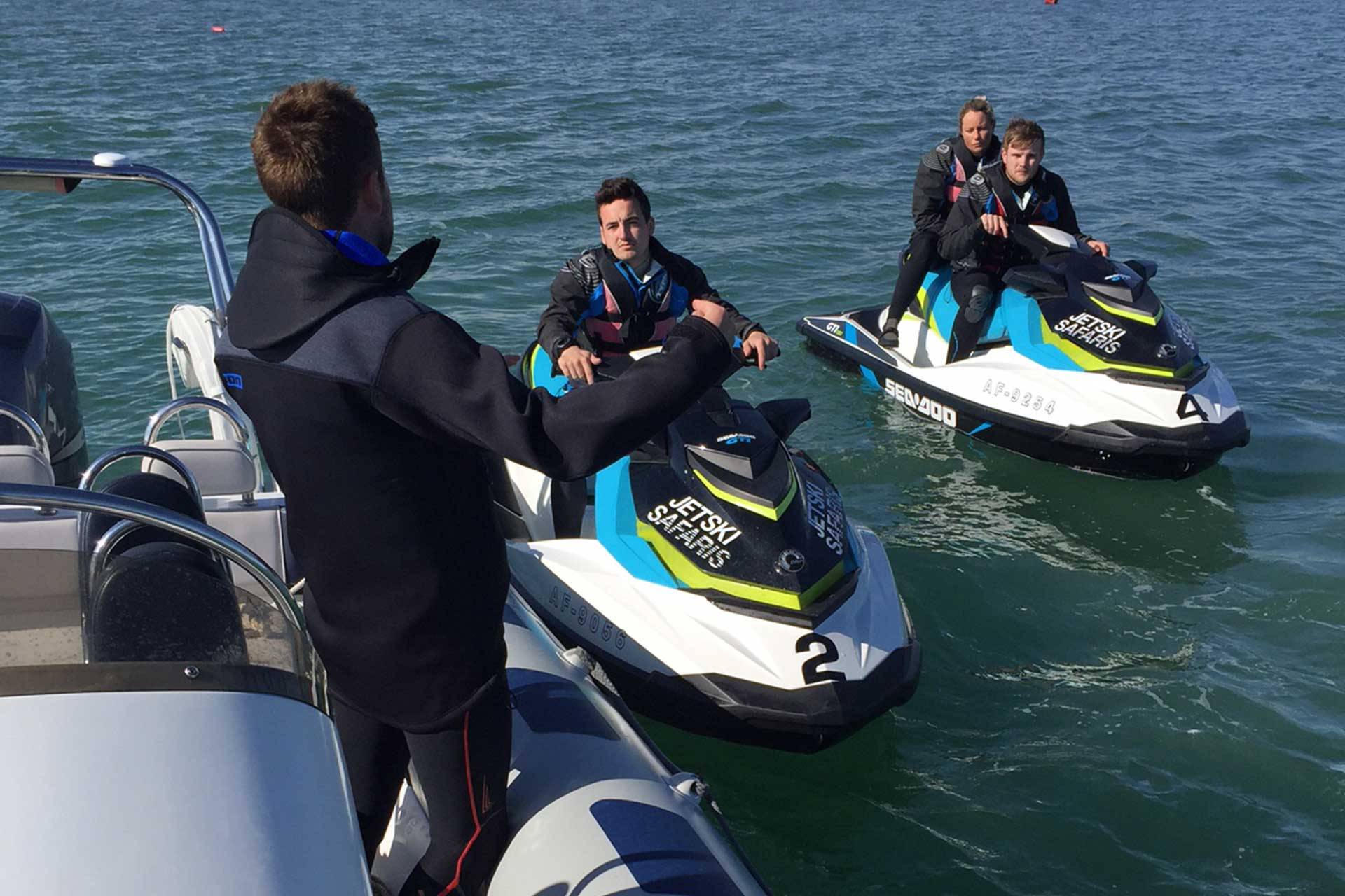 Jetski Training from aboard a Powerboat